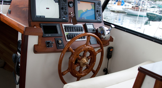 new Lowell 38 lobster boat helm