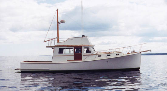 40' wooden lobster yacht Carroll L