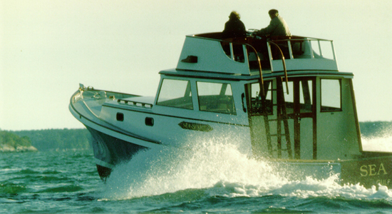 38' Sea Scribe - wooden power lobster yacht